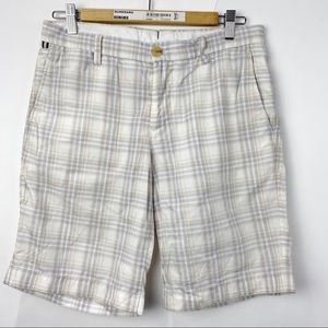 J. Lindeberg Golf checkered shorts